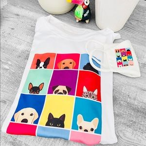 New Pet Lovers T-Shirt with Face Mask set